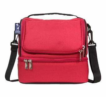 Wildkin <br />Cardinal Red Double Decker Lunch Bag