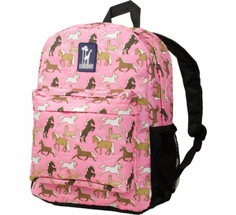 Wildkin <br />Horses in Pink Crackerjack Backpack