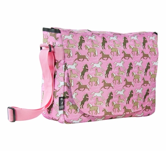 Wildkin <br />Horses in Pink Laptop Messenger Bag
