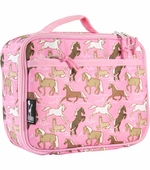 Wildkin <br />Horses in Pink Lunch Box