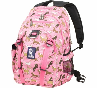 Wildkin <br />Horses in Pink Serious Backpack