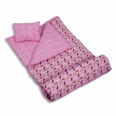 Wildkin <br />Horses in Pink Sleeping Bag