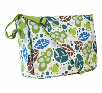 Wildkin <br />Lily Frogs Messenger Bag
