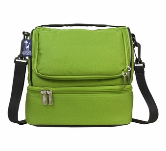 Wildkin <br />Parrot Green Double Decker Lunch Bag
