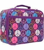 Wildkin <br />Peace Sign (purple) Lunch Box