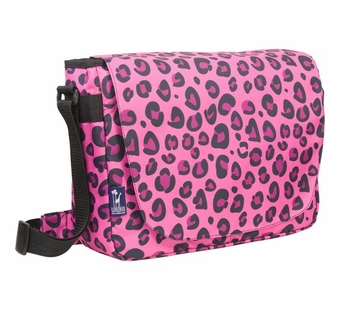 Wildkin <br />Pink Leopard Laptop Messenger Bag