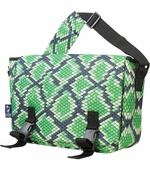 Wildkin <br />Snake Skin Laptop Messenger Bag