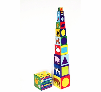 WJ Fantasy <br />Colors, Counting, Shapes & Animals Building Blocks