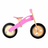 Wonderworld Toys <br />Wood Balance Bike Bubblicious Pink