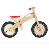 Wonderworld Toys <br />Wood Balance Bike Floral Hearts