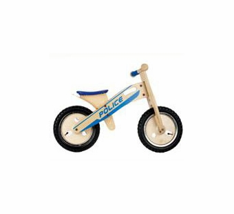 Wonderworld Toys <br />Wood Balance Bike Police