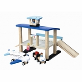 Wonderworld Toys <br />Wood Mini Airport Play Set