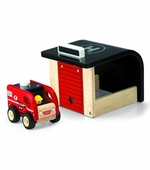 Wonderworld Toys <br />Wood Mini Fire Station Play Set