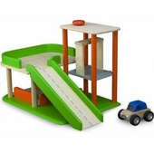 Wonderworld Toys <br />Wood Mini Garage Play Set