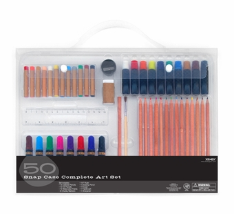 Xonex Art Kits <br />Complete Art Set in a Snap Case