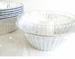 Foil Angel Food Cake Pan with Plastic Lid - #4060