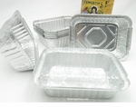 Foil carry-out pan with a plastic lid, 1-1/2 lb size - #235P