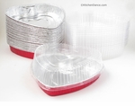 Foil Heart Pan with Plastic Lid - #339P