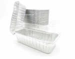 Foil Loaf Pan - 2 lb with Plastic Lid - #5100P