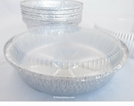 "10"" Round Foil Container with Plastic Lid - #260P"