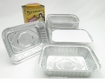 Foil carry-out pan with board lid, 1-1/2 lb size - #235L