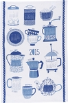 2015 Hot Brews Calendar Kitchen Towel