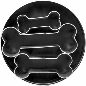 3 Piece Dog Bone Cookie Cutter Set - Click to enlarge
