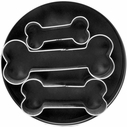 3 Piece Dog Bone Cookie Cutter Set