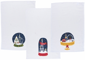3 Piece Snow Globes Towel Set - Click to enlarge