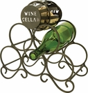 5 Bottle Wine Rack & Cork Collector
