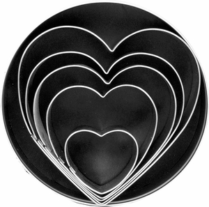 5 Piece Heart Cookie Cutter Set - Click to enlarge