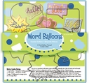 5 Piece Word Balloons Cutter Set