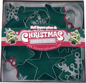 7 Piece Christmas Cookie Cutter Set - Click to enlarge