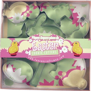 7 Piece Easter Cookie Cutter Set - Click to enlarge