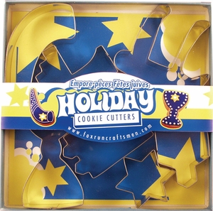 7 Piece Holiday Cookie Cutter Set - Click to enlarge