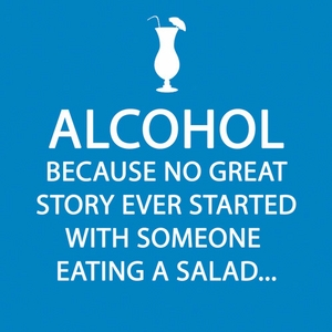Alcohol Story Paper Beverage Napkins - Click to enlarge