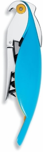 Alessi Parrot Corkscrew Azure Blue - Click to enlarge