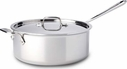 All Clad Stainless Steel 6 Quart Saute Pot