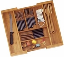 Bamboo Expandable Flatware Holder