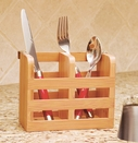 Bamboo Flatware Holder for Bamboo Dish Rack