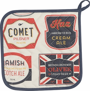 Beer Labels Potholder - Click to enlarge