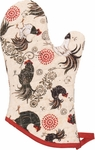 Betty Rustic Roosters Oven Mitt