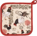 Betty Rustic Roosters Potholder