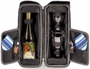 Picnic Time Black Estate Wine Tote