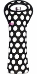 Built NY 1 Bottle Tote Black & White Big Dots