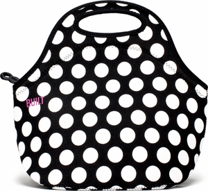 Built NY Gourmet Getaway Lunch Bag Black & White Big Dots - Click to enlarge