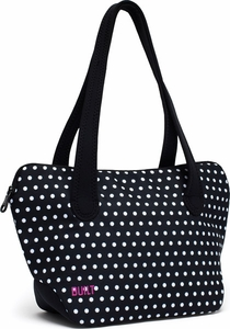 Built NY Shoulder Lunch Tote Black & White Mini Dots - Click to enlarge