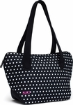 Built NY Shoulder Lunch Tote Black & White Mini Dots