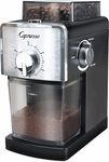 Capresso Coffee Burr Grinder in Stainless Steel and Black