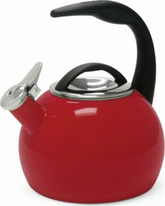Chantal 2 Quart Chili Red Anniversary Tea Kettle - Click to enlarge